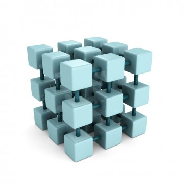Abstract block cube structure