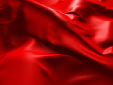 Red Silk Cloth Abstract Background