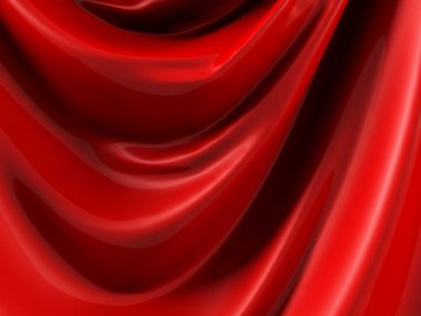 Abstract Red Silk Background. 3d Render Illustration stock vector