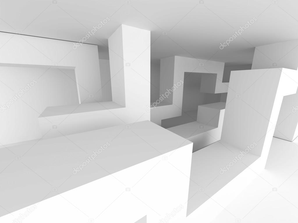 Fond abstrait architecture g om trique blanche for Architecture geometrique