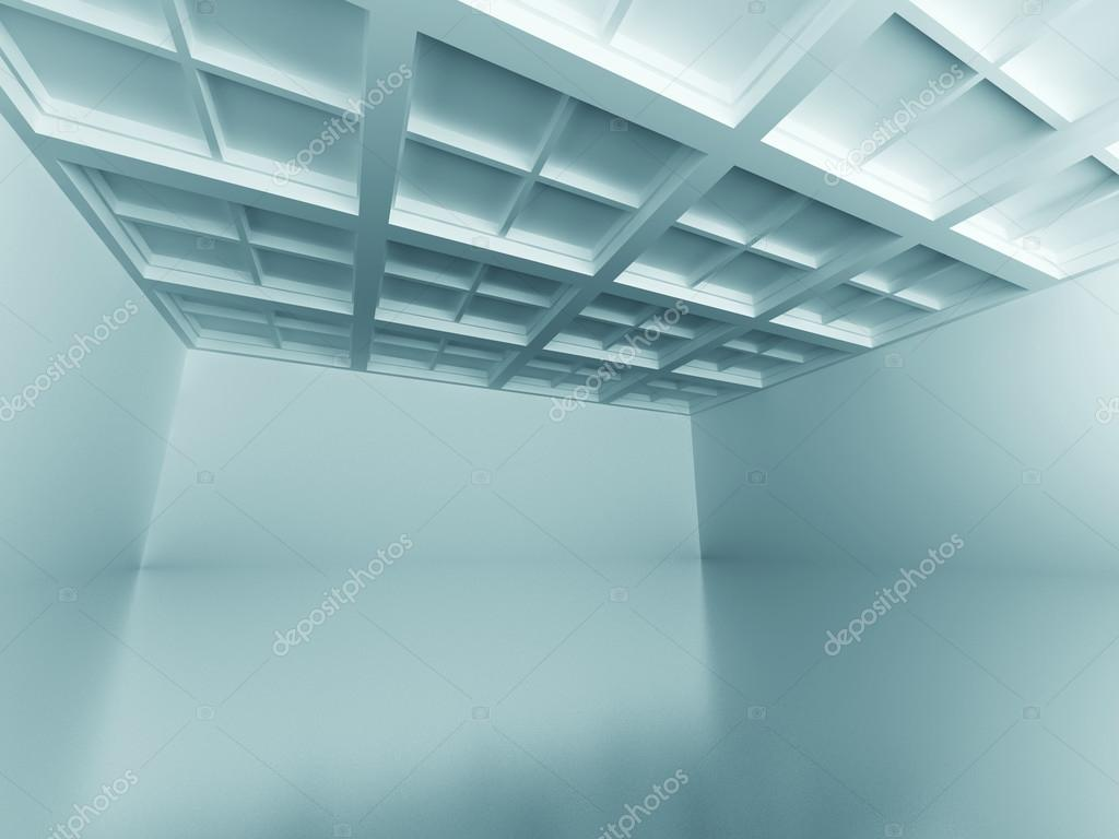 Emrty Room Architecture Design Interior Background. 3d Render Illustration stock vector
