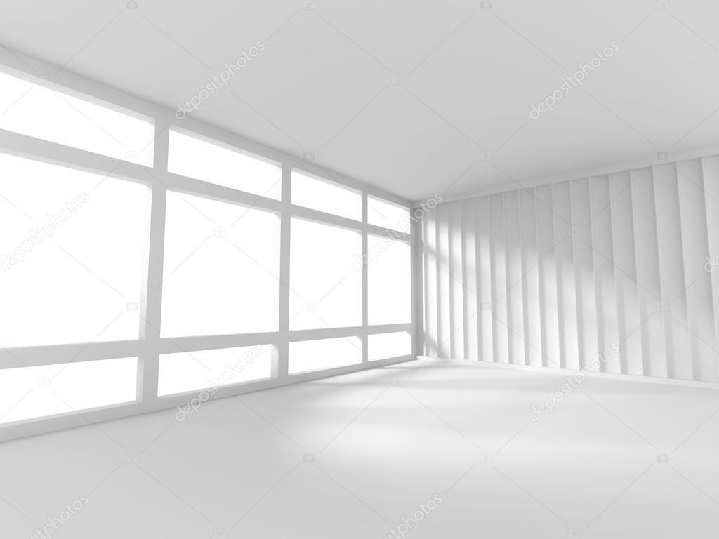 Abstracte witte lege kamer met raam stockfoto versusstudio 81015044 - Moderne witte kamer ...