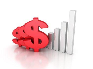 Business Successful Dollar Bar Graph