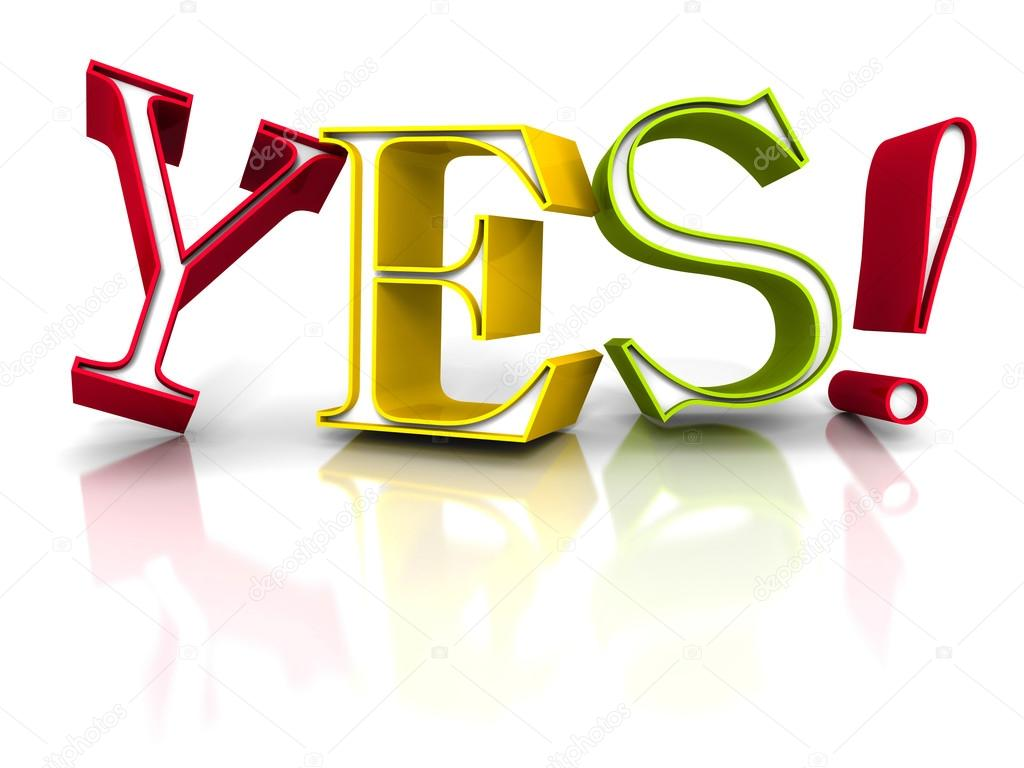 Kleurrijke Ja Word Letters Stockfoto Versusstudio 84401488