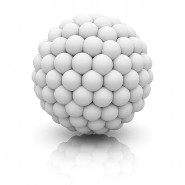 Abstract 3d Sphere On White Background