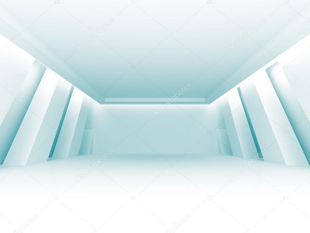 Empty Room Futuristic Interior Background. 3d Render Illustration stock vector