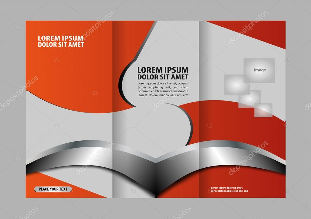 vector modern tri fold brochure design template stock vector