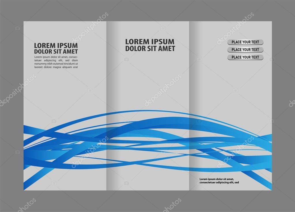 63778a3f9a Tríptico tienda negocio corporativo maqueta y diseño de folletos — Vector  de stock