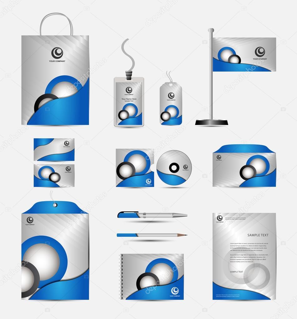 Plantilla marca identidad corporativa. Diseño de papelería de vector ...