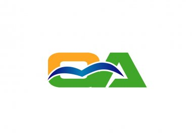 CA company group linked letter logo
