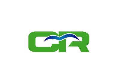CR letter logo design vector illustration template
