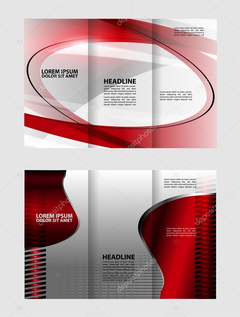 Triple negocio folleto plantilla diseño de plantilla de tres lados ...