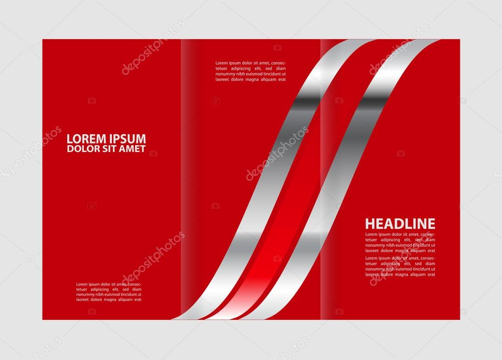 Tri Fold Business Brochure Template Three Sided Template Design