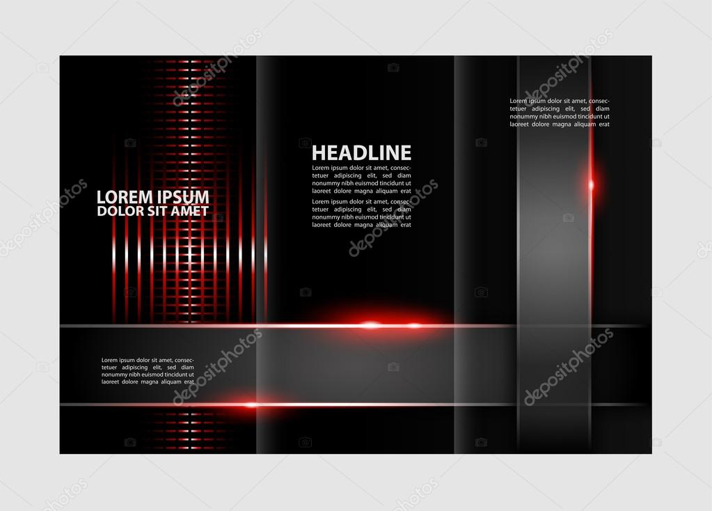 Tri fold business brochure template three sided template design tri fold business brochure template three sided template design mock up cover in blue colors vector by jimmy238 friedricerecipe Image collections