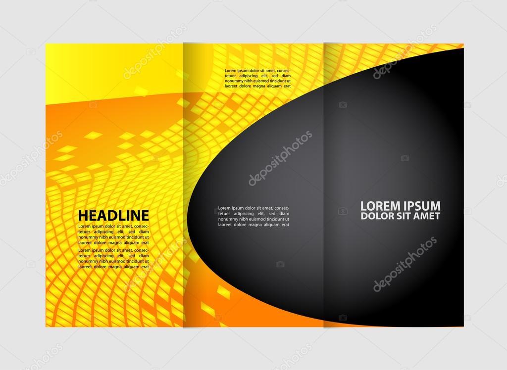 Dreifach gefaltete Broschüre Beauty-Salon und Katalog-Vektor-Design ...