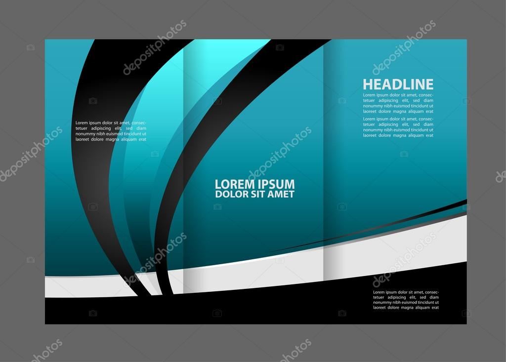 Brochure Design Template Abstract Background For Business