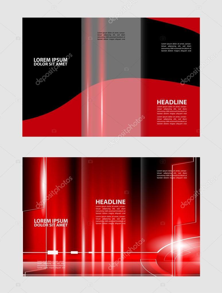 Vektor leer dreifach gefaltete Broschüre Druckvorlage Design ...