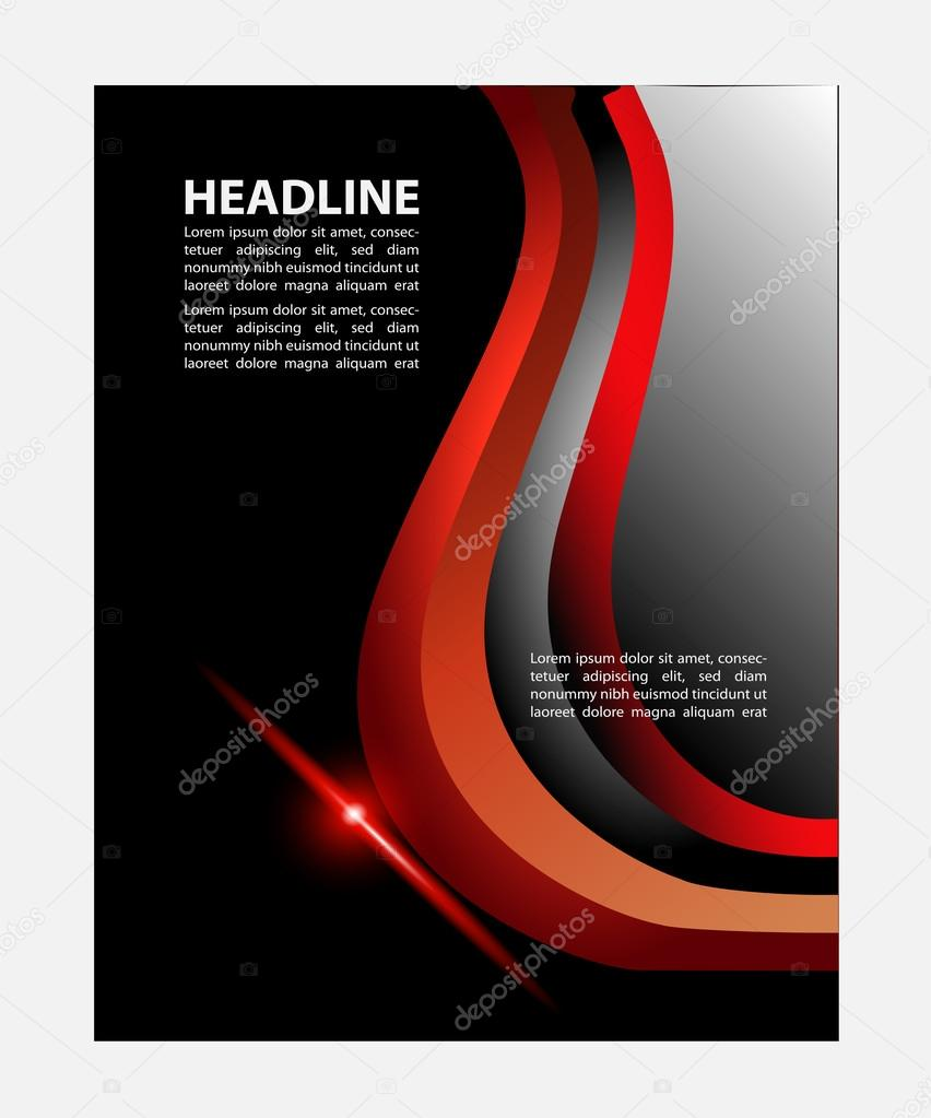 Illustrated Book Cover Vector ~ Illustrated colorful layout with abstraction magazine cover
