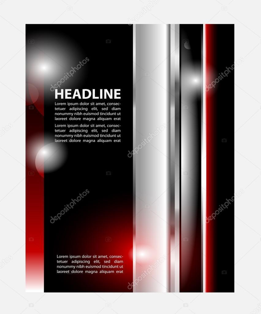 stilvolle Präsentation von Business-Poster, Magazin-Cover, Design ...