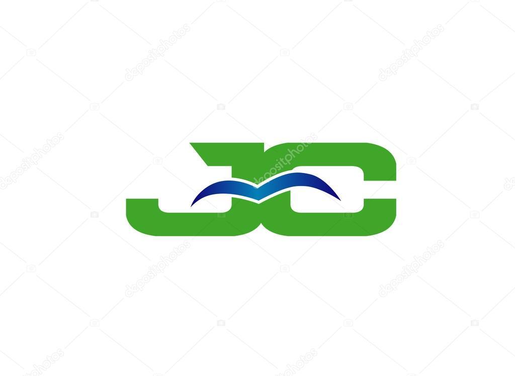 CJ company group linked letter logo — Stock Vector