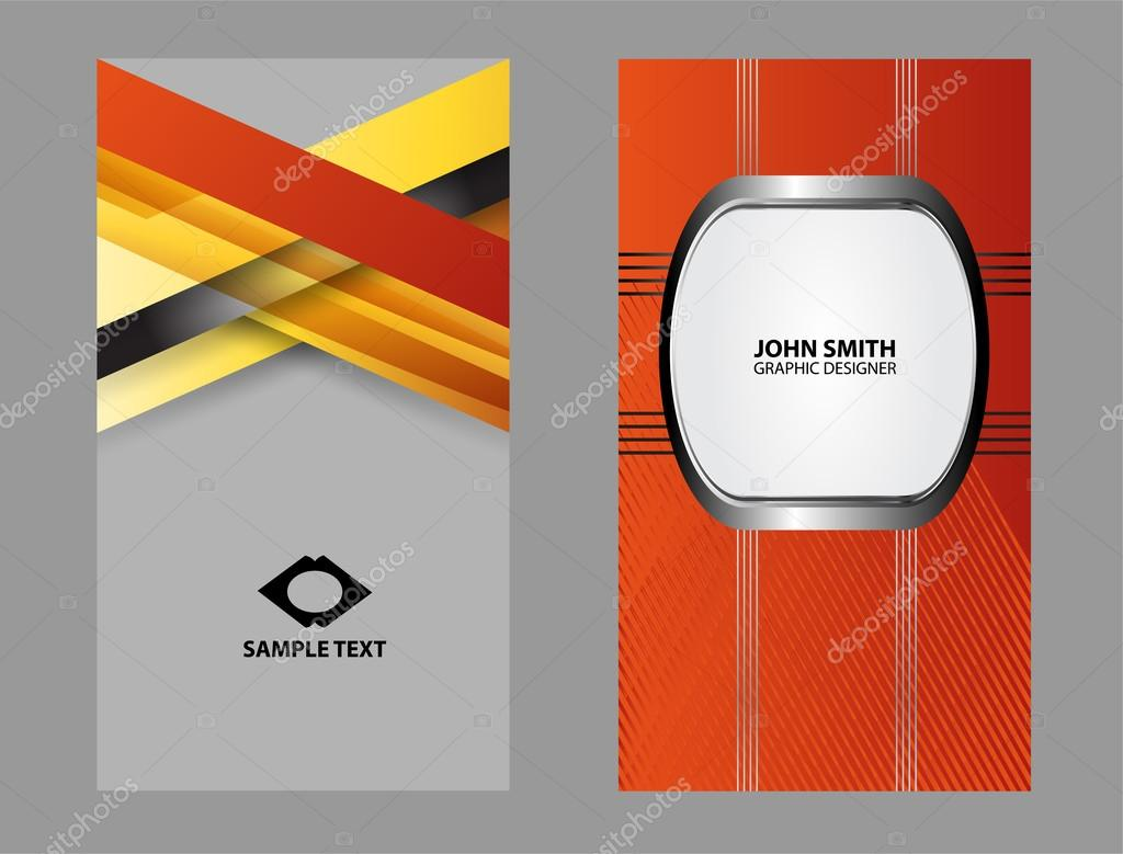 Templates For Business Cards Elements For Design Stock Vector