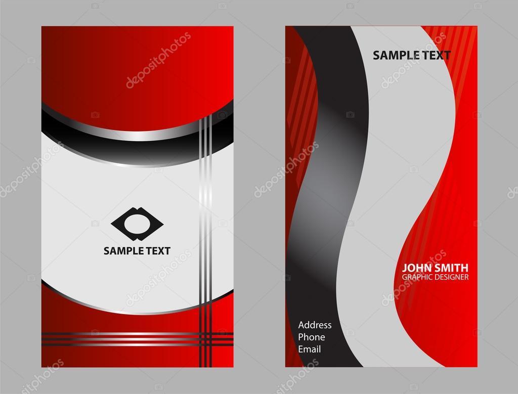 Moderne Visitenkarte Template Design Stockvektor