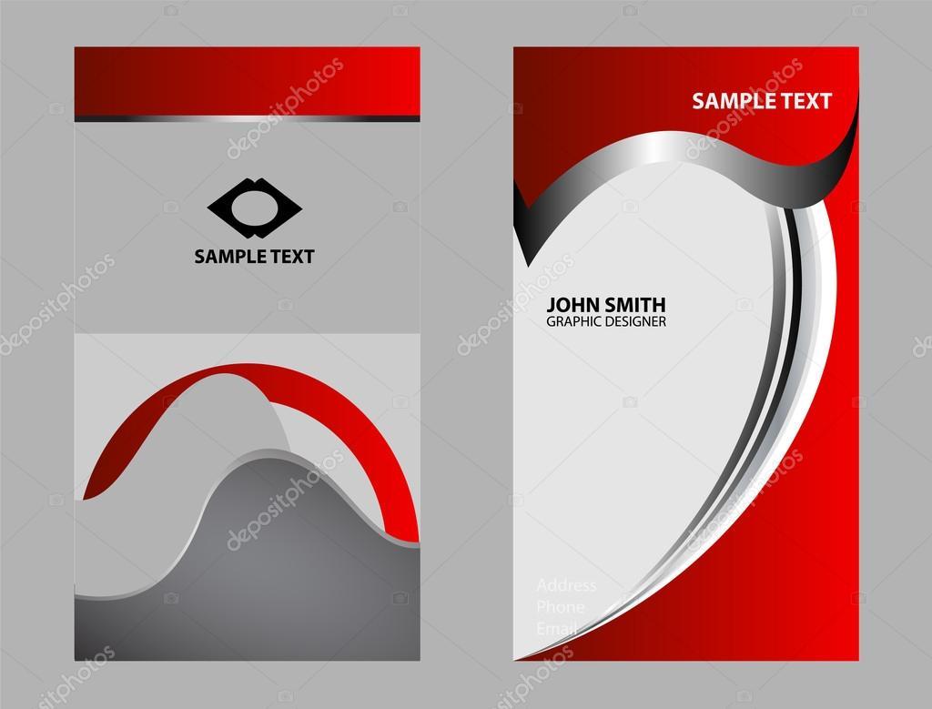 Modele De Carte Visite Professionnelle Et Design Abstrait Illustration Stock