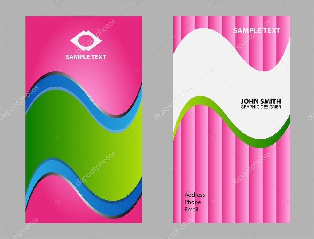 9664aa67810a9 Plantillas de diseño abstracto tarjeta de negocio - tarjetas de presentacion  predisenadas — Vector de Jimmy238 — Vector de ...