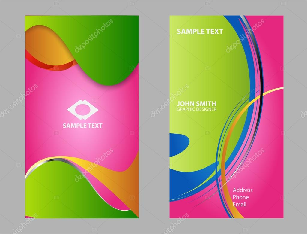 Business card background set abstract business card design business card background set abstract business card design templates stock vector flashek Images