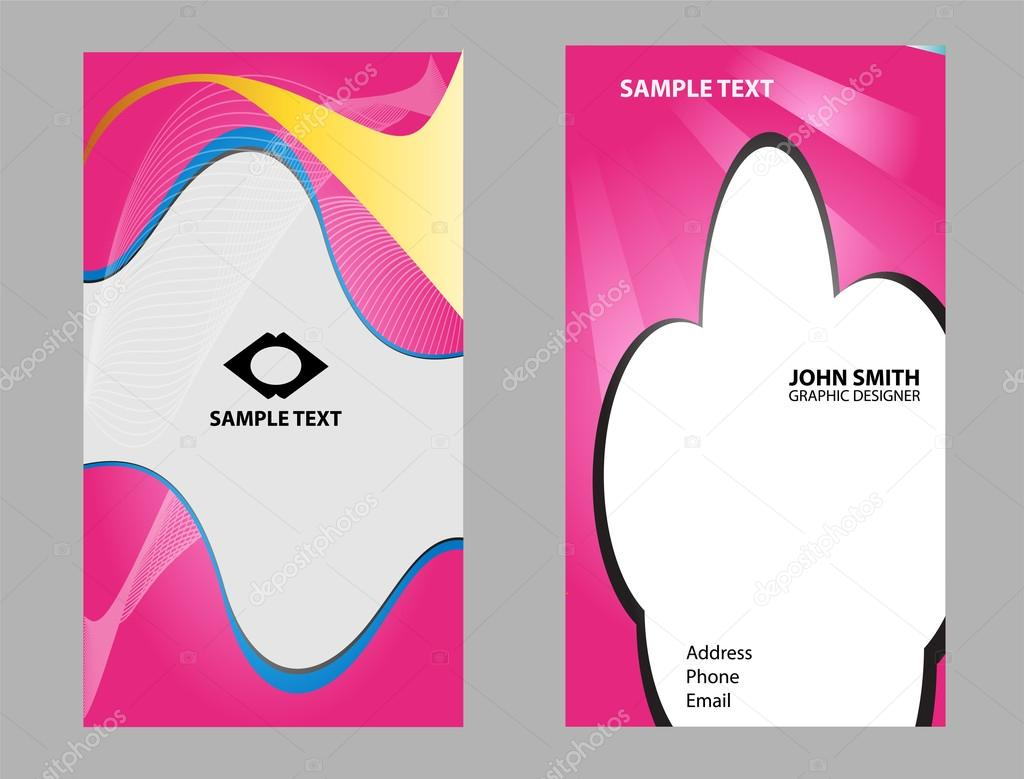 Business Card Background Set Abstract Design Templates Stock Vector