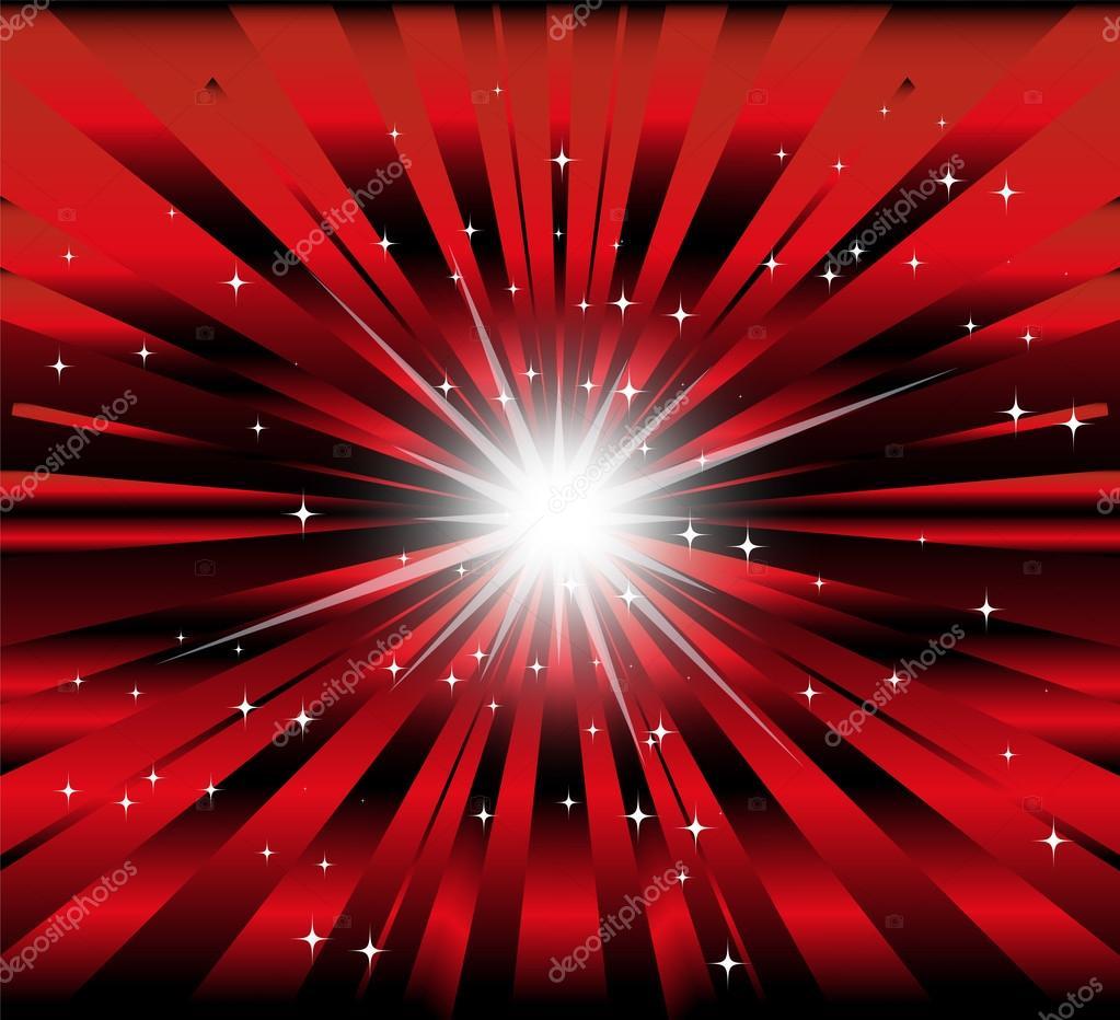 Scoppiare Sfondo Rosso E Nero Con Ray E Stella Di Luce Vettoriali