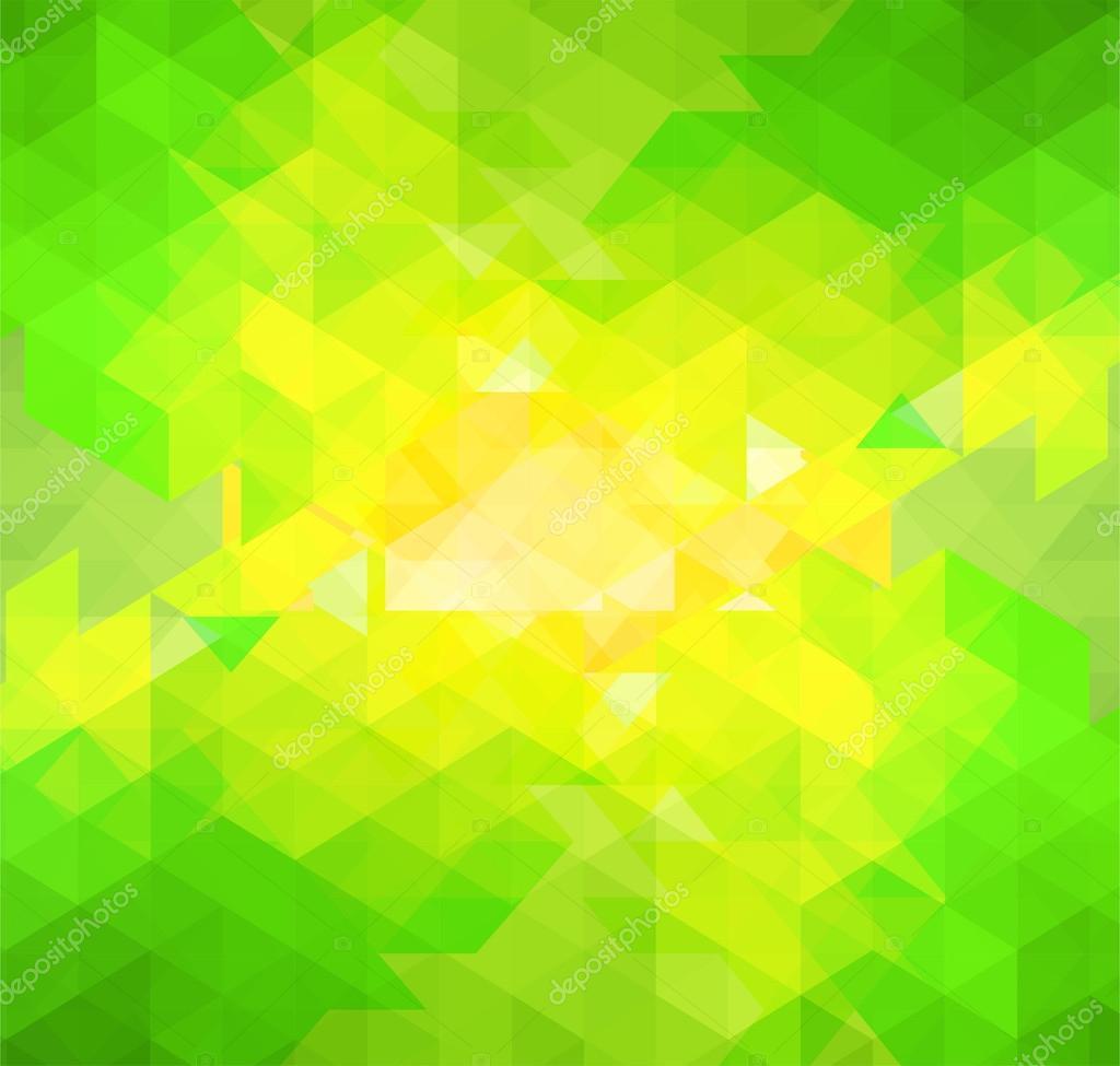 Mosaico Astratto Sfondo Verde E Giallo Foto Stock Jimmy238 53630597
