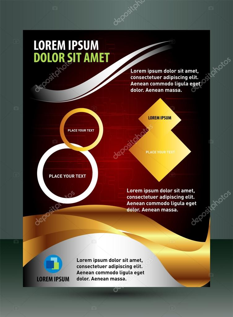 Technical Flyer Template Stock Vector Jimmy238 56383731