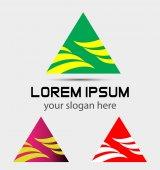 Trojúhelník abstraktní Logo vektorové ikony šablony návrhu Business media podepsat symbol Creative Technology