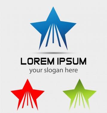 Rising star future shape business logo icon