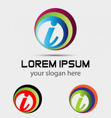 Letter I logo icon design template elements. Vector sign