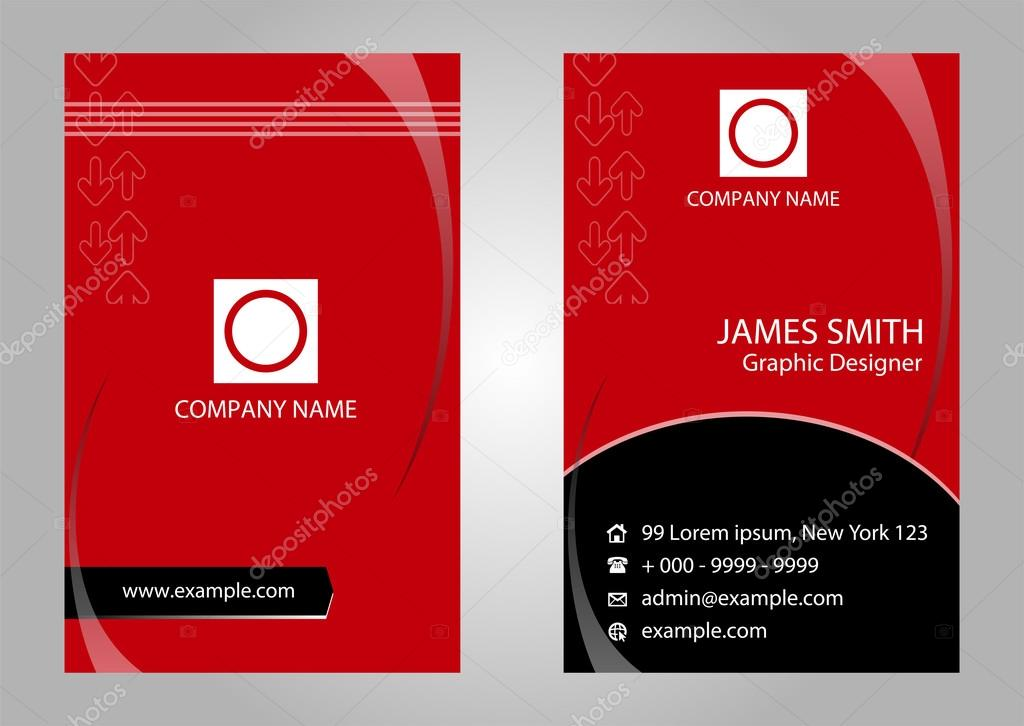 Modern simple business card vector template stock vector modern simple business card vector template stock vector reheart Gallery