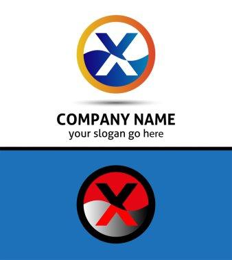 Letter X logo symbol design template elements