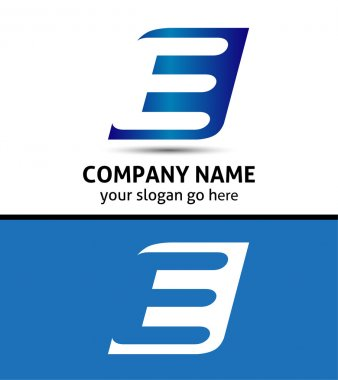 Corporate Logo E Letter company vector design template