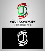 Letter J Company logo icon template set