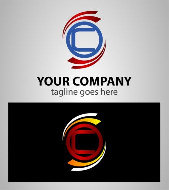 Letter C logo icon set element