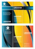 Tri-Fold-Broschüre-Design. Modell. Corporate Broschüre oder Cover-Design. für Veröffentlichung, Druck und Präsentation
