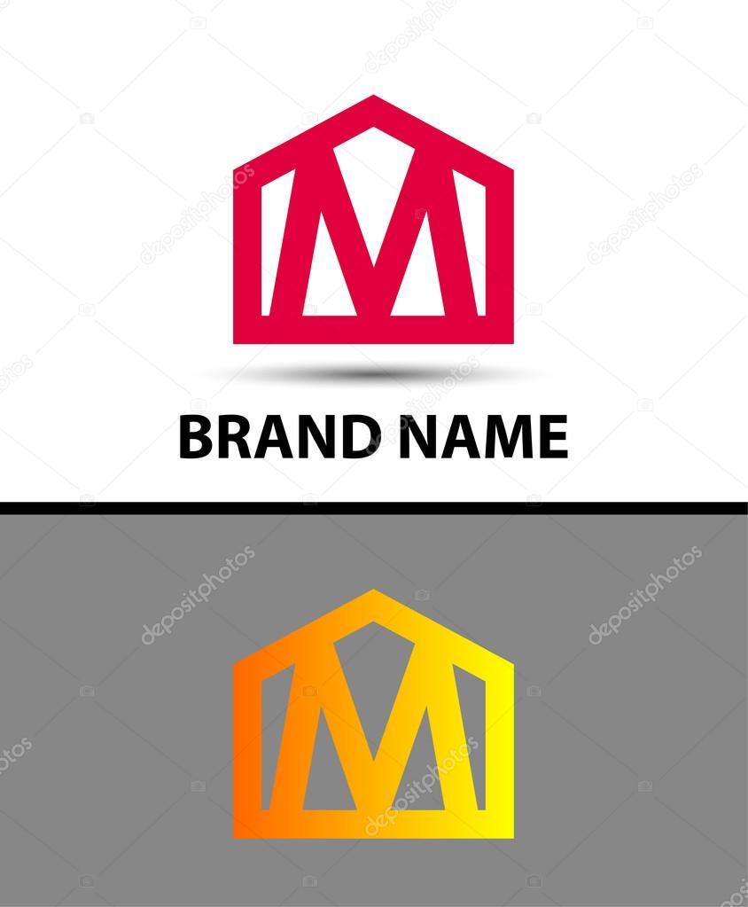 logotipo de la letra m, símbolo de bienes inmuebles ? archivo ... - Bienes Inmuebles Dibujos