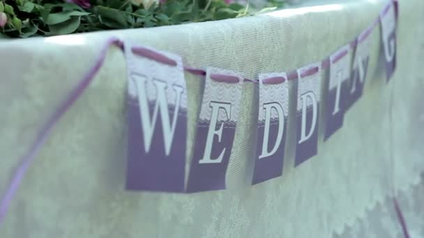 Wedding decoration in the wind