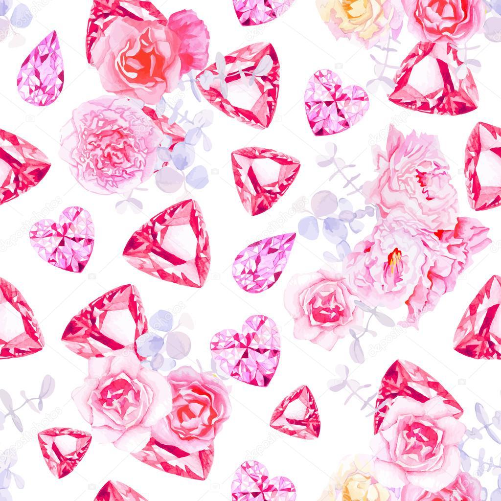 rosa diamanten vektorgrafik - photo #9