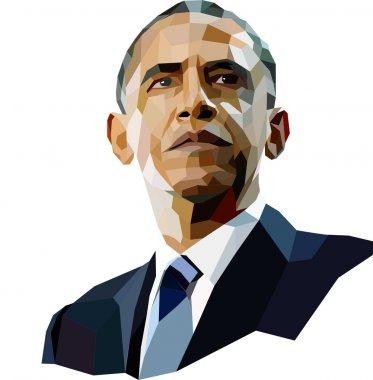 Portrait of American President Barack Obama