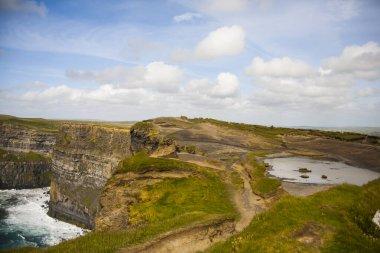 Spring landscape in Cliffs of Moher (Aillte An Mhothair), Ireland.