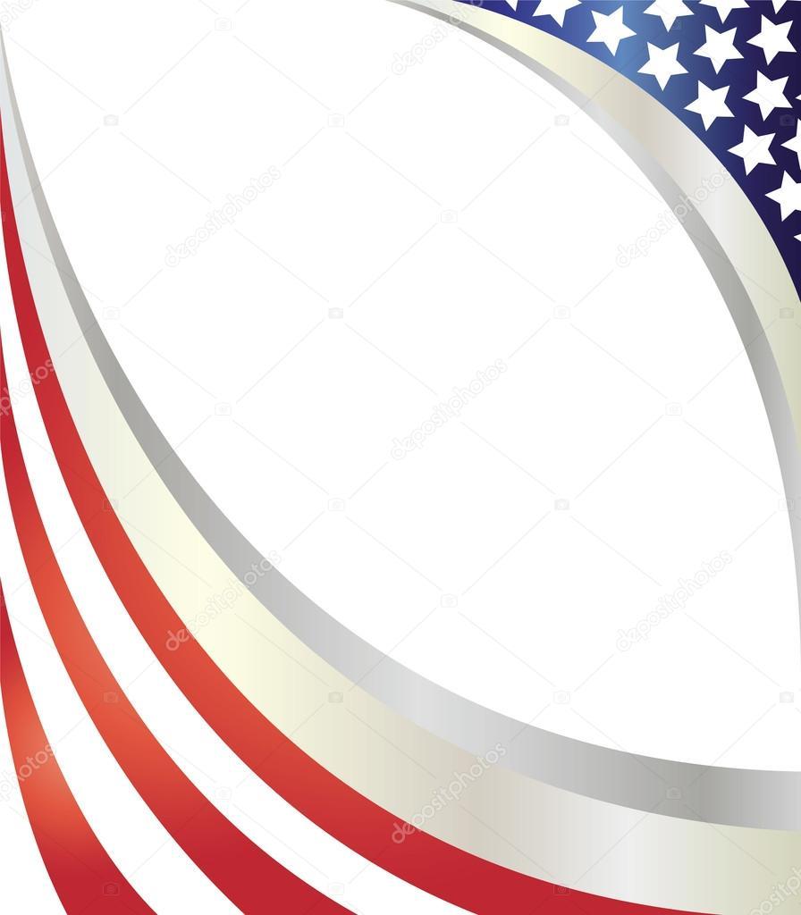 Vereinigte Staaten von Amerika Flagge Wave Rahmen — Stockvektor ...