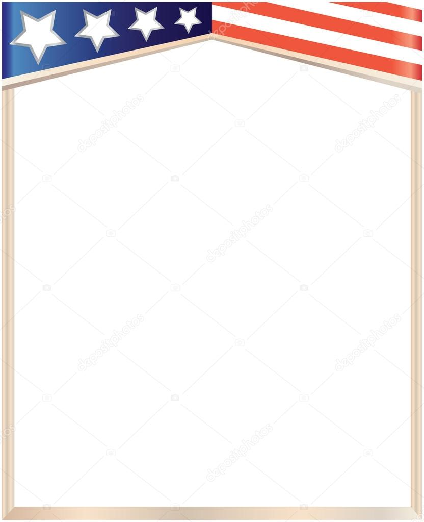 Abstract American flag frame on a white background. — Stock Vector ...