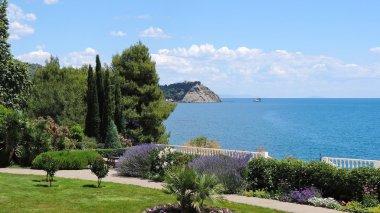 Seaside Park name Aivazovsky overlooking the sea in Partenit in Crimea.